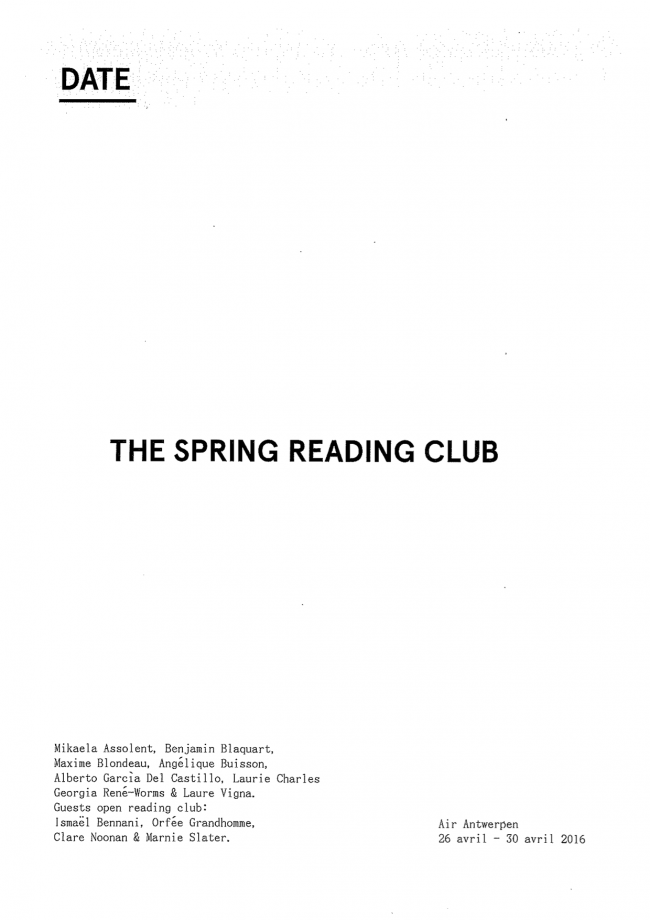 Reader- Spring Reading Club  (glissé(e)s) 1